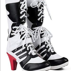 Shoes - Women's Patent Leather Harley Heels